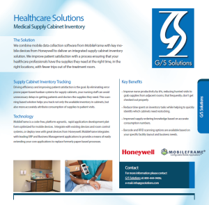 Medical Supply Cabinet Inventory Solution Brochure